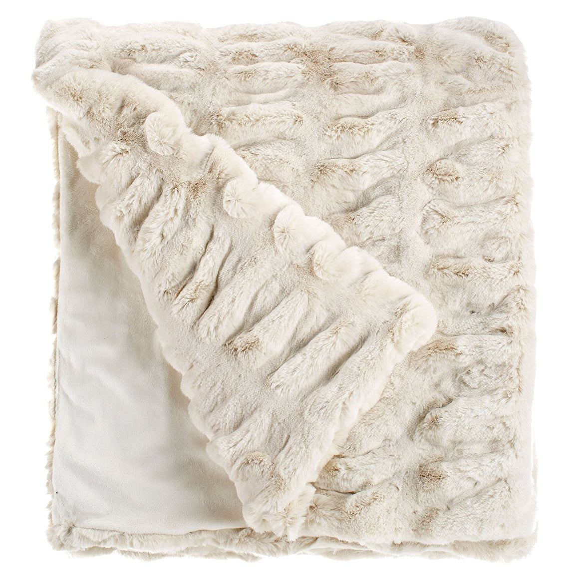 Ivory Mink Faux Fur Throw