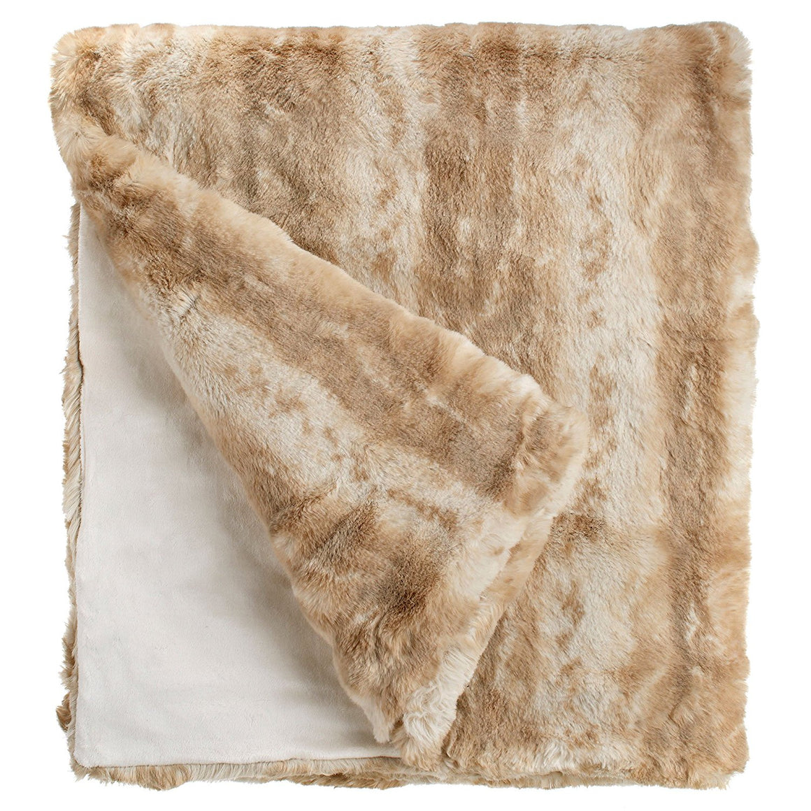 Blonde Mink Couture Faux Fur Throw