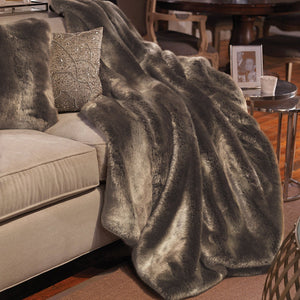 Timberwolf Couture Faux Fur Throw