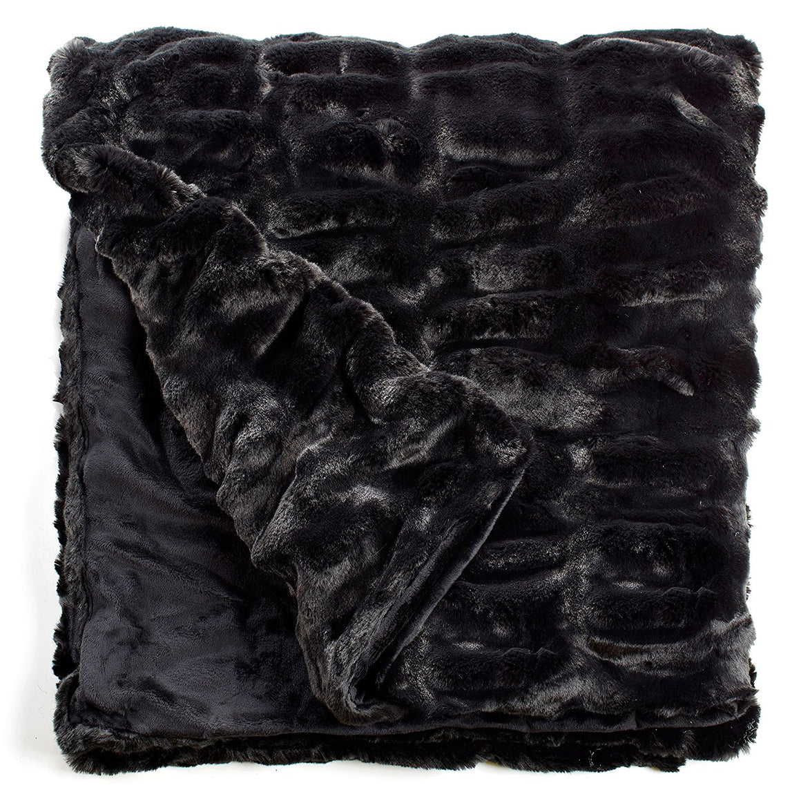 Onyx Mink Faux Fur Throw