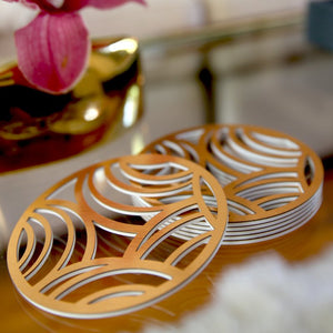 Gold Affinity Coasters - set of 6