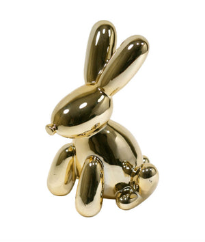 Gold Bunny Balloon Bank
