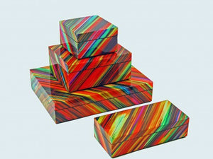 Multi Colored Lacquered Boxes