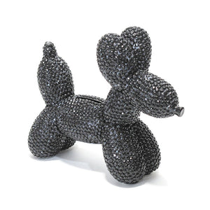 Glam Dog Balloon Bank - Black