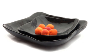 Wave Square Bowls - Grey