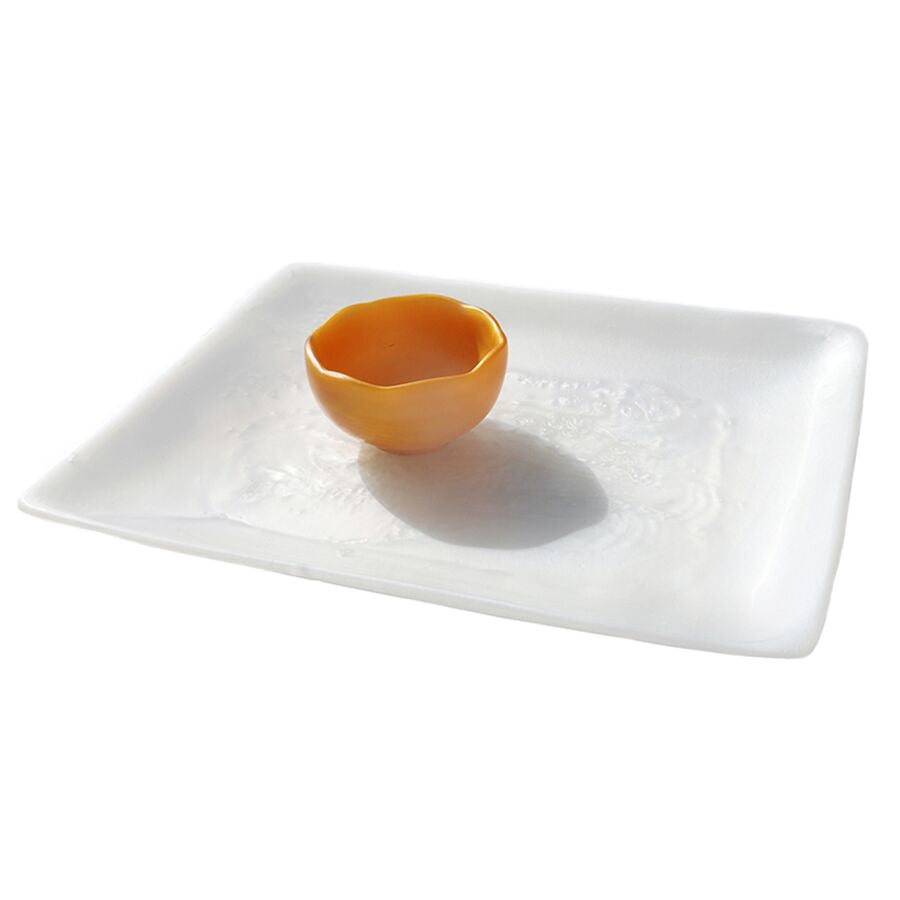 Cameron Rectangular Resin Serving Tray - Shell