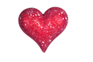Decorative Red Jewled Heart