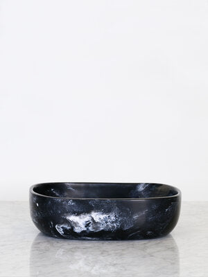 Tierra Resin Salad Bowl - Storm