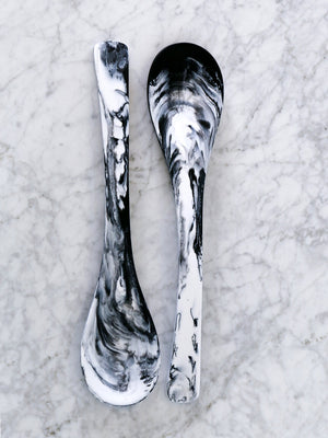 Set of Luna Resin Serving Spoons