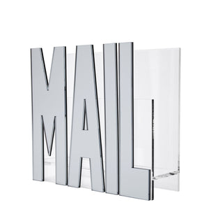 Silver Mirror &  Acrylic Mail Holder