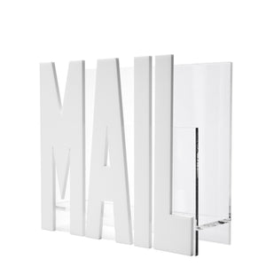 White Acrylic Mail Holder