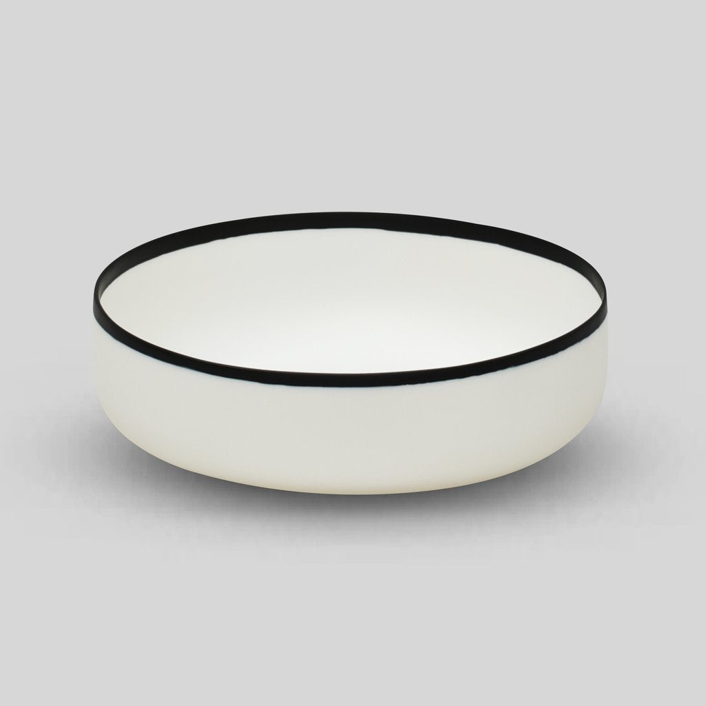 Tina Frey Black & White Resin Salad Bowl