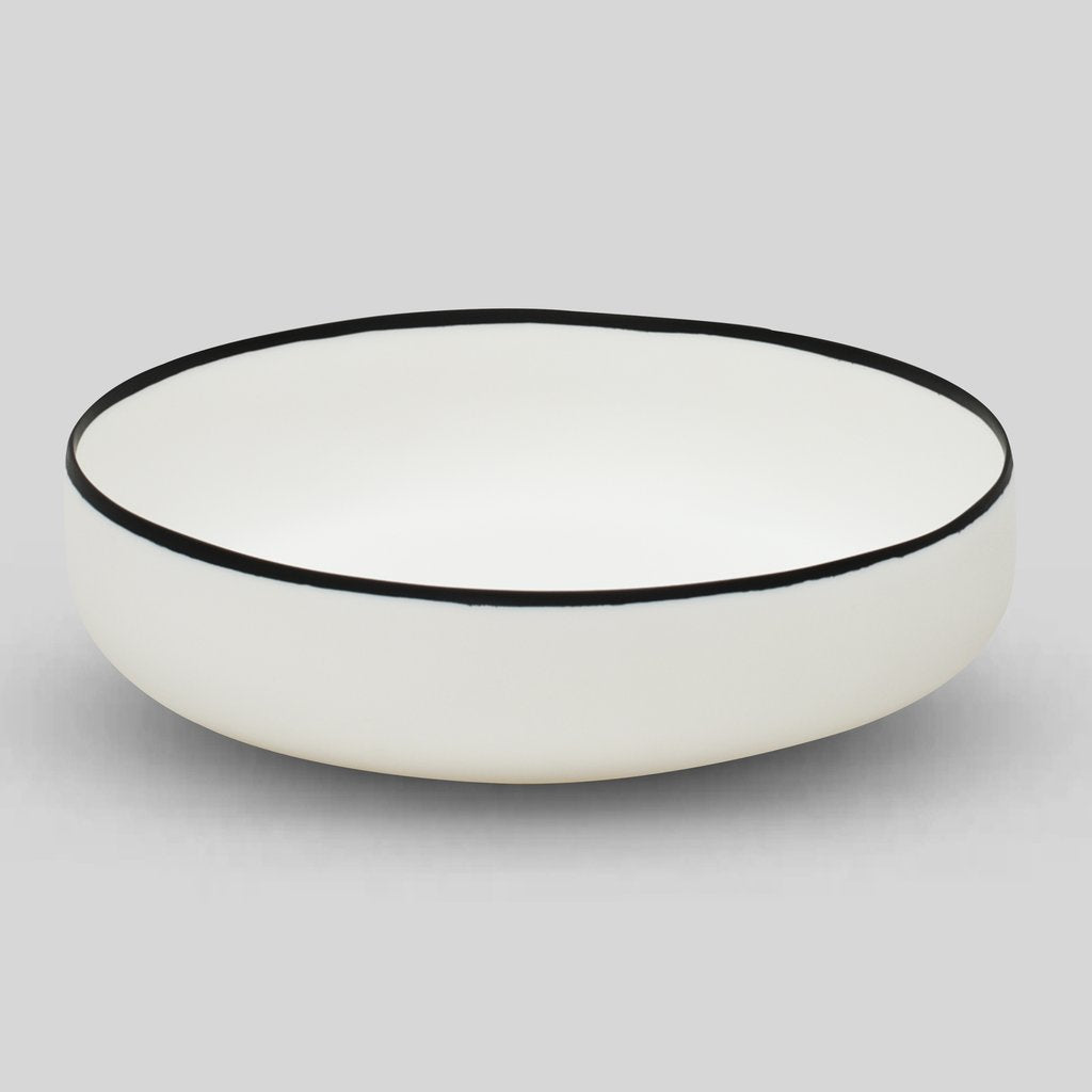 Tina Frey Black & White Resin Large Bowl