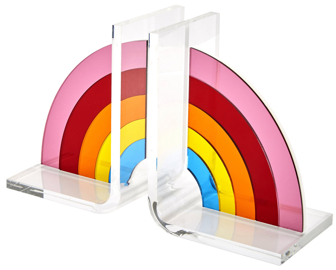 Acrylic Rainbow Bookends, set of 2