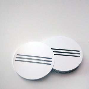 Silver Bond Coasters - set of 6