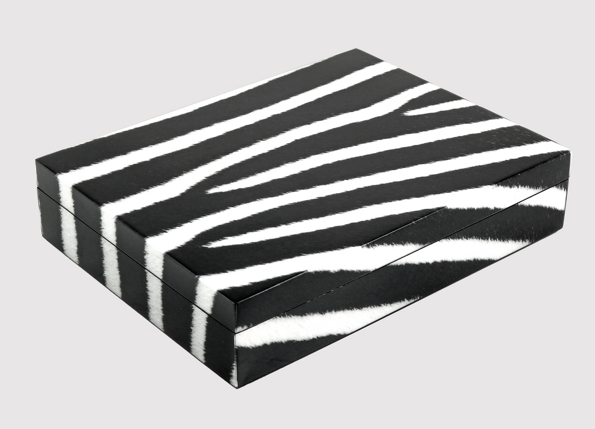 Diamond Lacquered Zebra Box