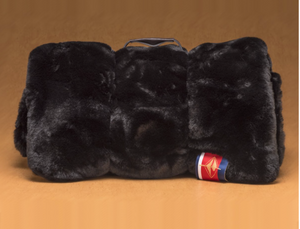 Black Faux Fur Outdoor Blanket