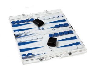 Mini Acrylic Backgammon Set