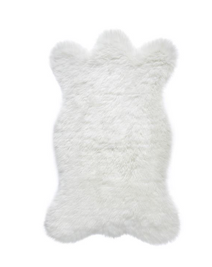 Ivory Bear Faux Fur Chair Cover/Dog Mat