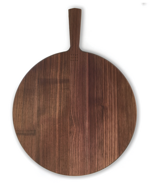 Round Walnut Wood Cutting Board  with Handle
