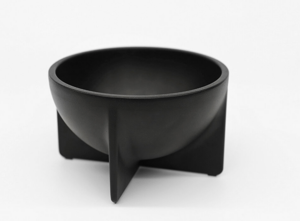 Black Small Standing Bowl