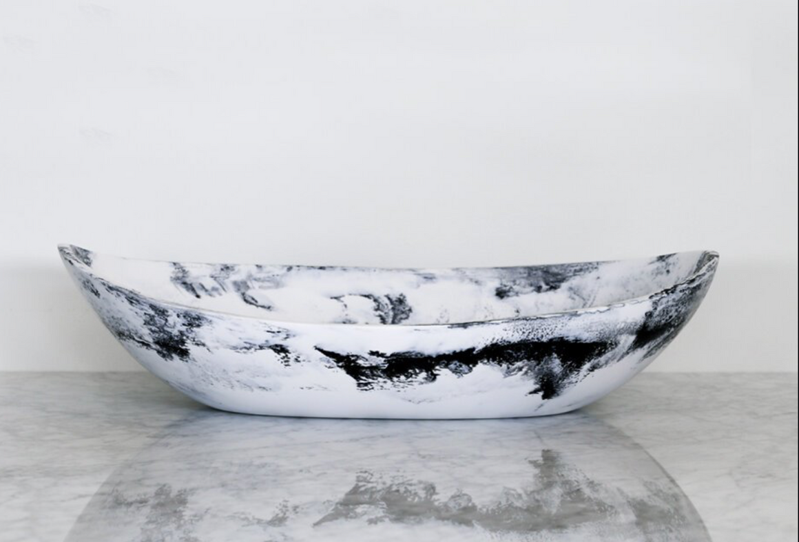 Large Resin Cradle Bowl - Luna