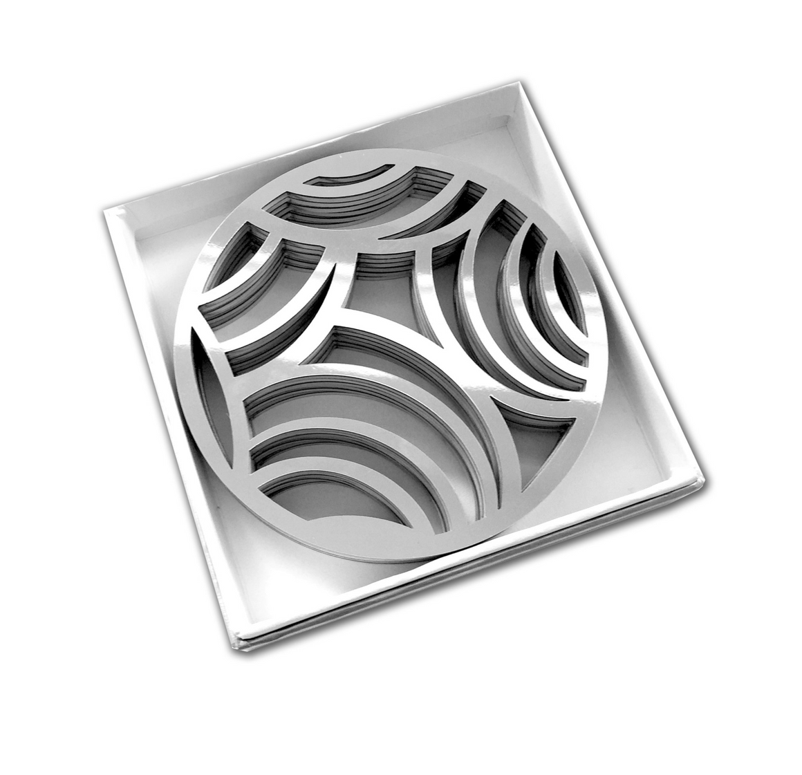 Silver Affinity Coasters - set of 6