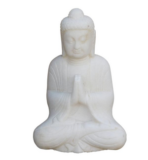 White Marble Praying Buddha Sculpture