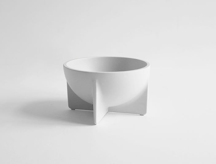 Alpine White Small Standing Bowl