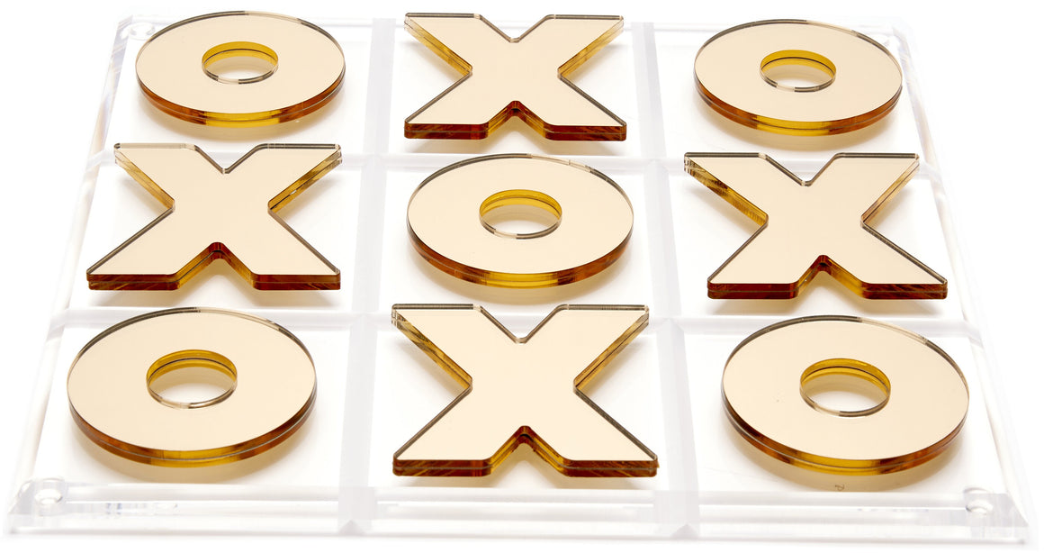 Gold Mirror Tic Tac Toe Set
