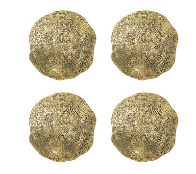 Gold Timber Coasters, set of 4