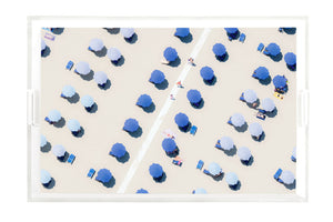 Gray Malin Blue & White Umbrella Tray