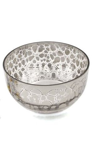 Platinum Crackle Bowl