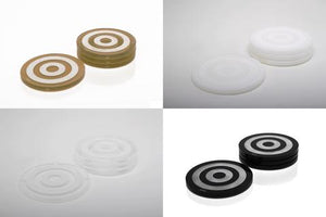 AVF Bullseye Jewel Clear Coaster Set