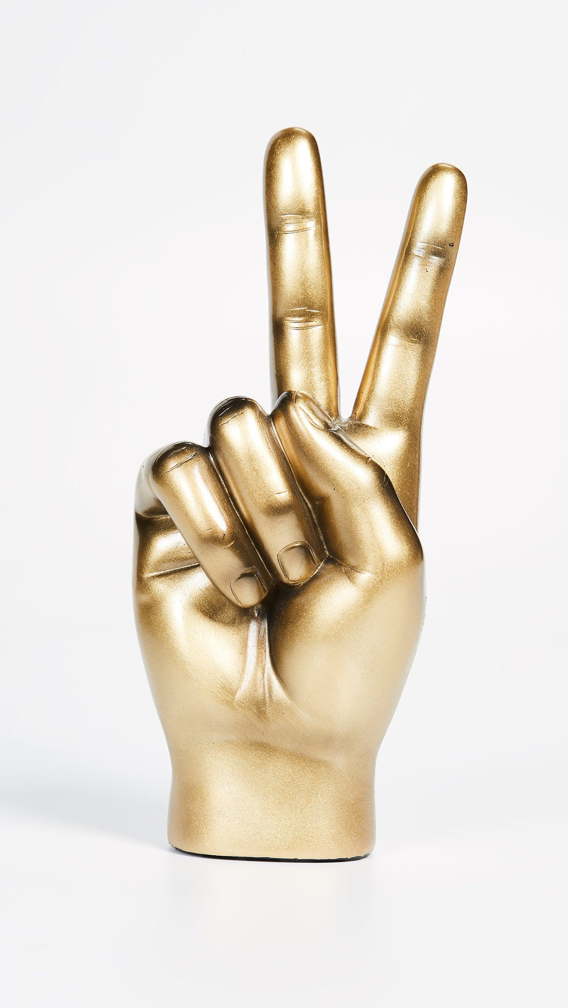 Peace Hand in Gold