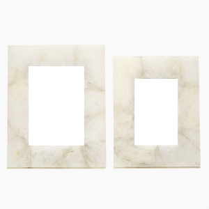 White Quartz Photo Frames