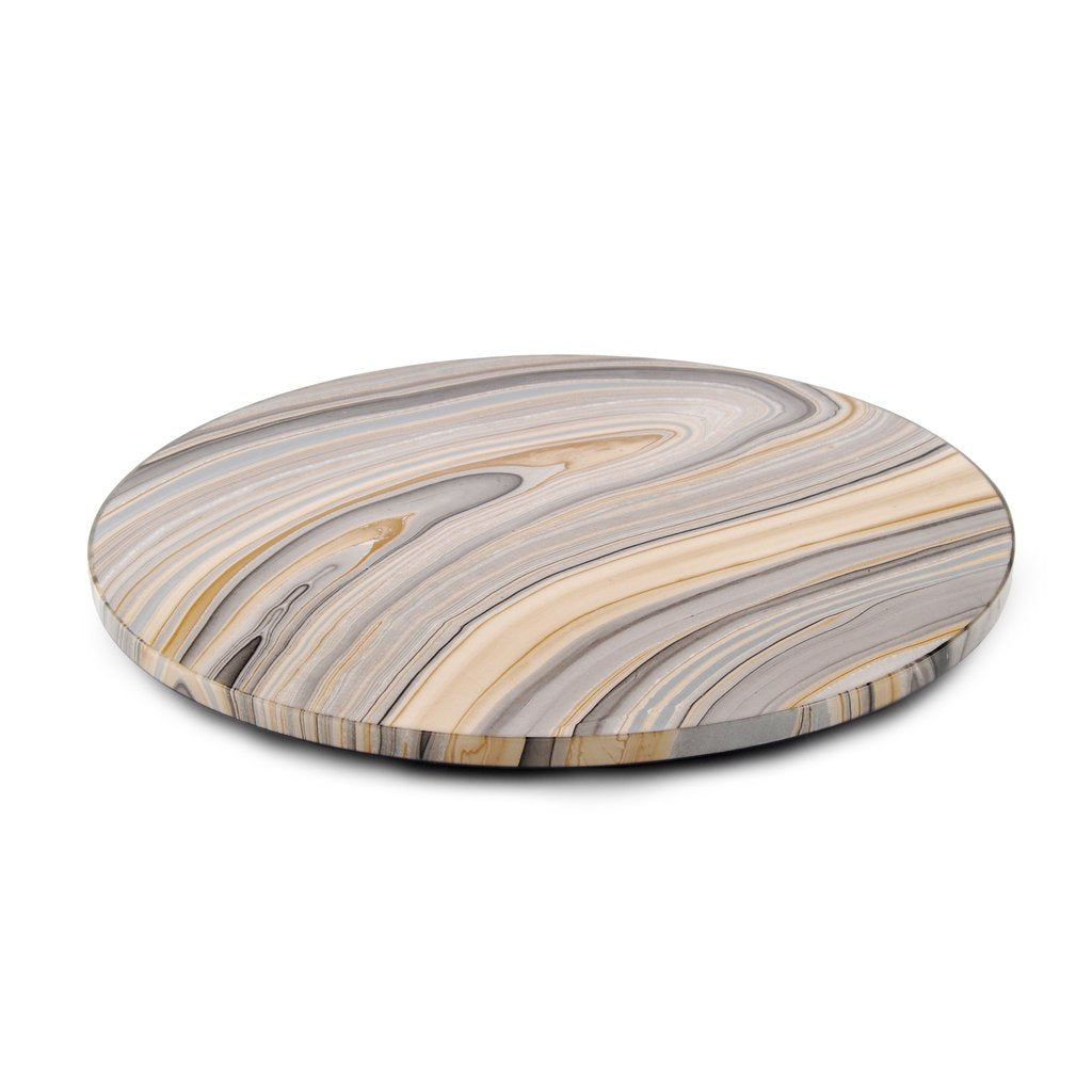 Tucson Print Lacquered Lazy Susan