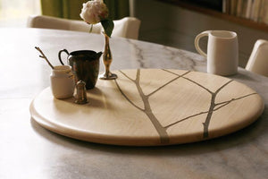 Embellished Maple Lazy Susan