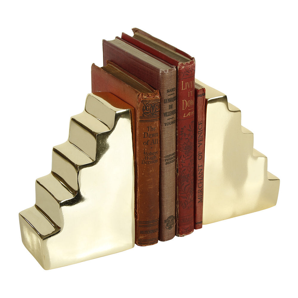 Gold Stair Bookends, set of 2