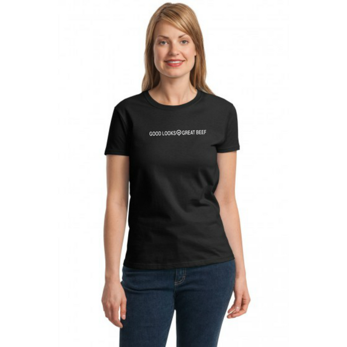 Good Looks Great Beef - Womens Maple Tee