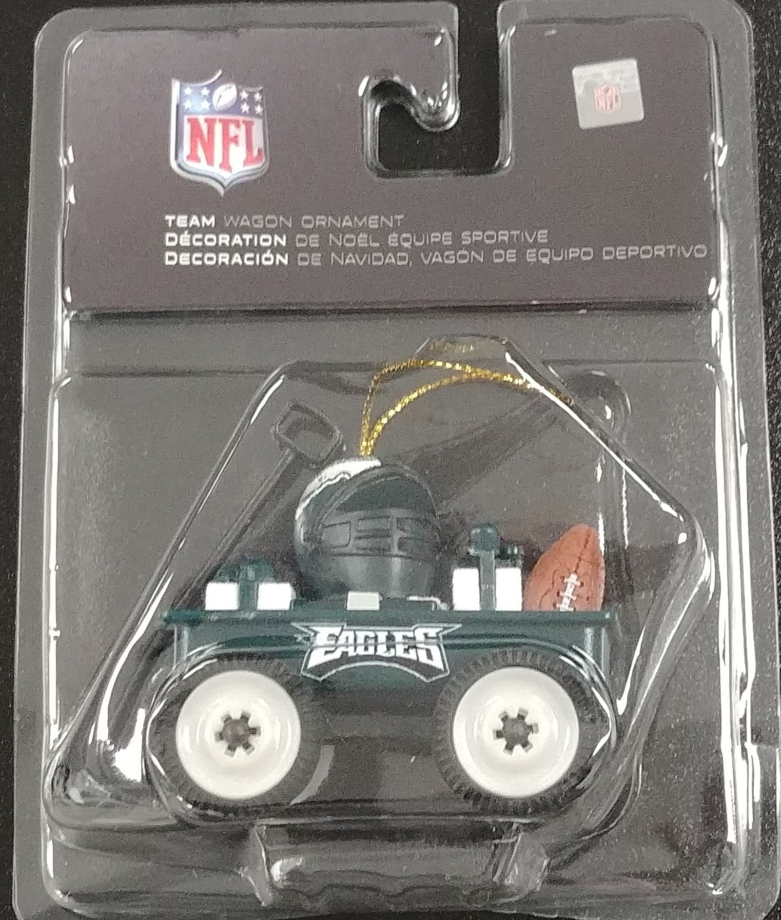 Philadelphia Eagles Wagon Ornament