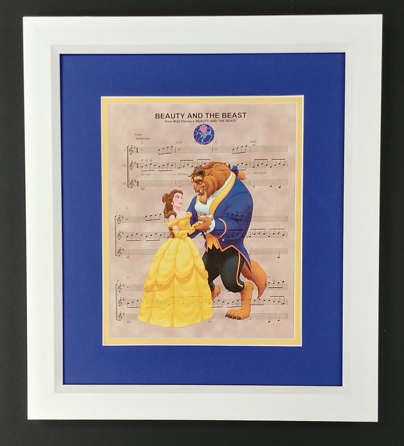 Beauty and the Best 8x10 Sheet Music Framed Print
