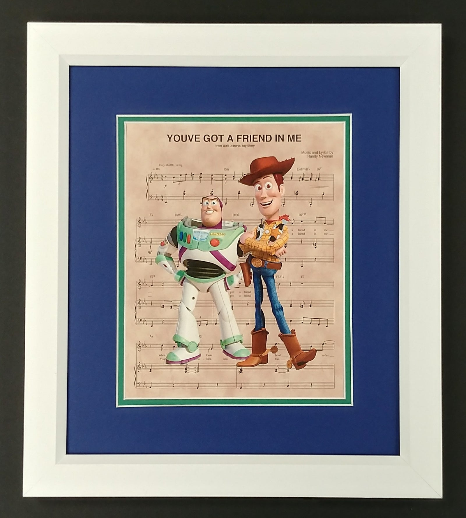 "Toy Story ""You've Got a Friend In Me"" 8x10 Sheet Music Framed Print"