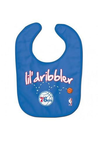 "Philadelphia 76ers ""Little 76ers Fan"" Baby Bib"