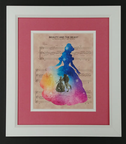 "Frozen ""For the First Time in Forever"" Framed 8x10 Sheet Music Print"