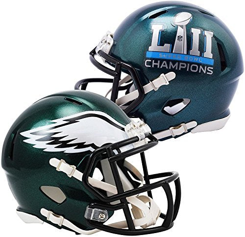 Philadelphia Eagles Super Bowl LII Champions Revolution Speed Mini Football Helmet