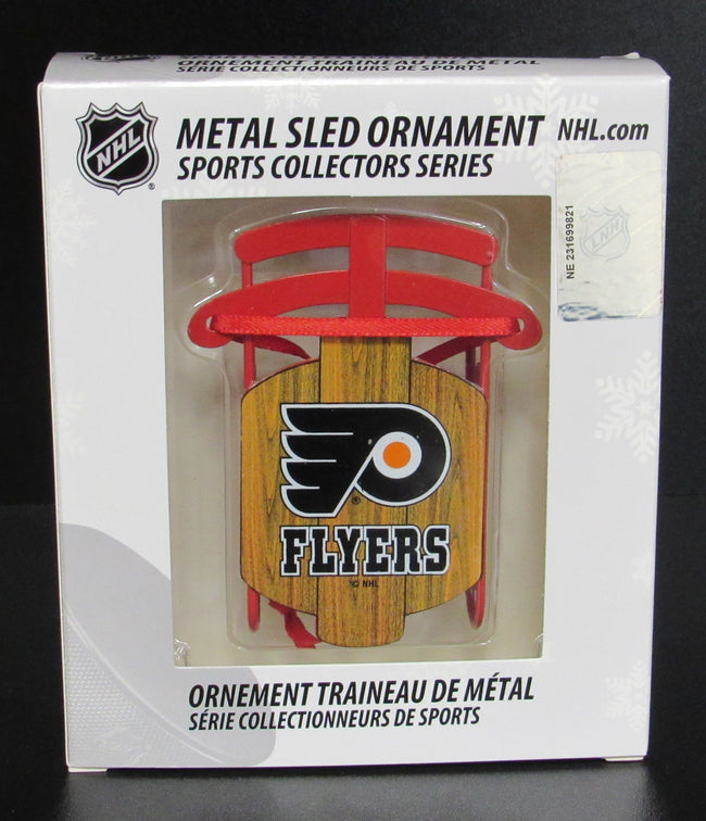 Philadelphia Flyers Metal Sled Ornament