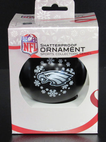 Philadelphia Eagles Blown Glass Glitter Blimp Ornament