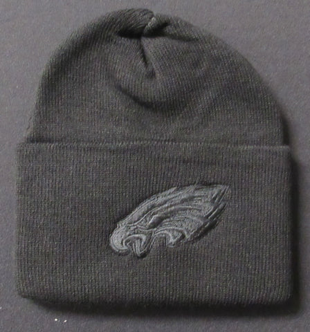 Philadelphia Eagles Knit Hat Black/Green Striped
