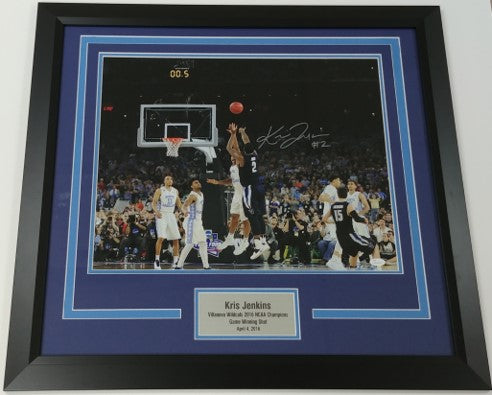 Kris Jenkins Framed Autographed 16x20 Photo Display